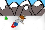 Snowboarding-game-with-a-child