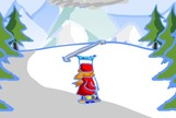 Snowboard-game-penguin-run-peak